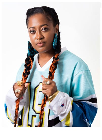 A photo of Rapsody, a rapper from Durham