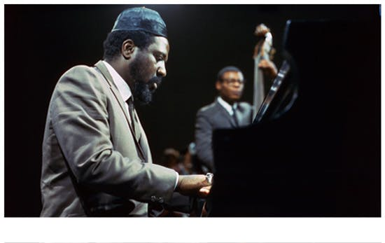 Theolonious Monk playing the piano
