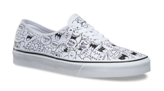 A product shoot of the Vans x truth shoe designed by Kevin Lyons