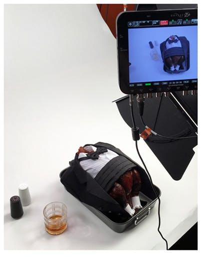 A camera filming a unique video project