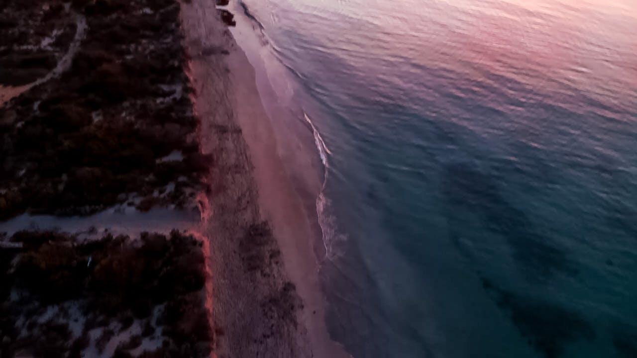 Dusk-Shoreline-Aerial