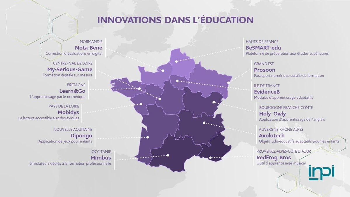 Cartographie INPI - Les innovations dans l'éducation