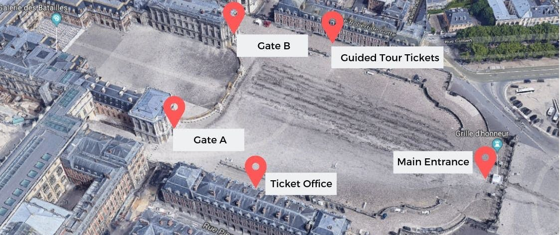 Versailles Entrance Map