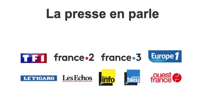 Logos des médias français qui parlent de Mytraffic