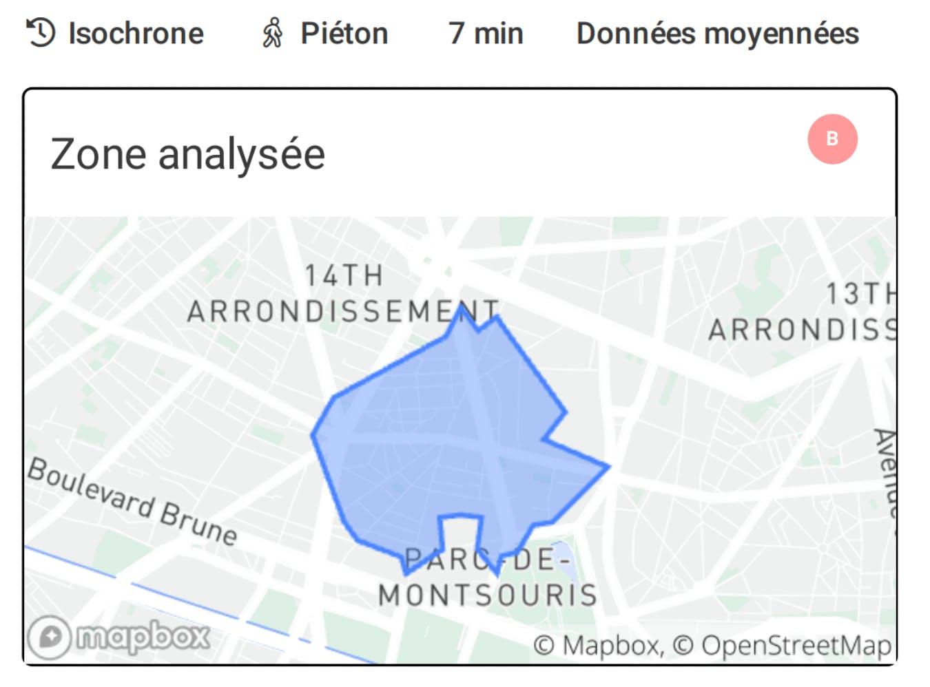 Analyse d'une zone