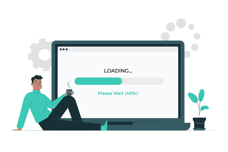 Webseite Ladezeiten: Loading.