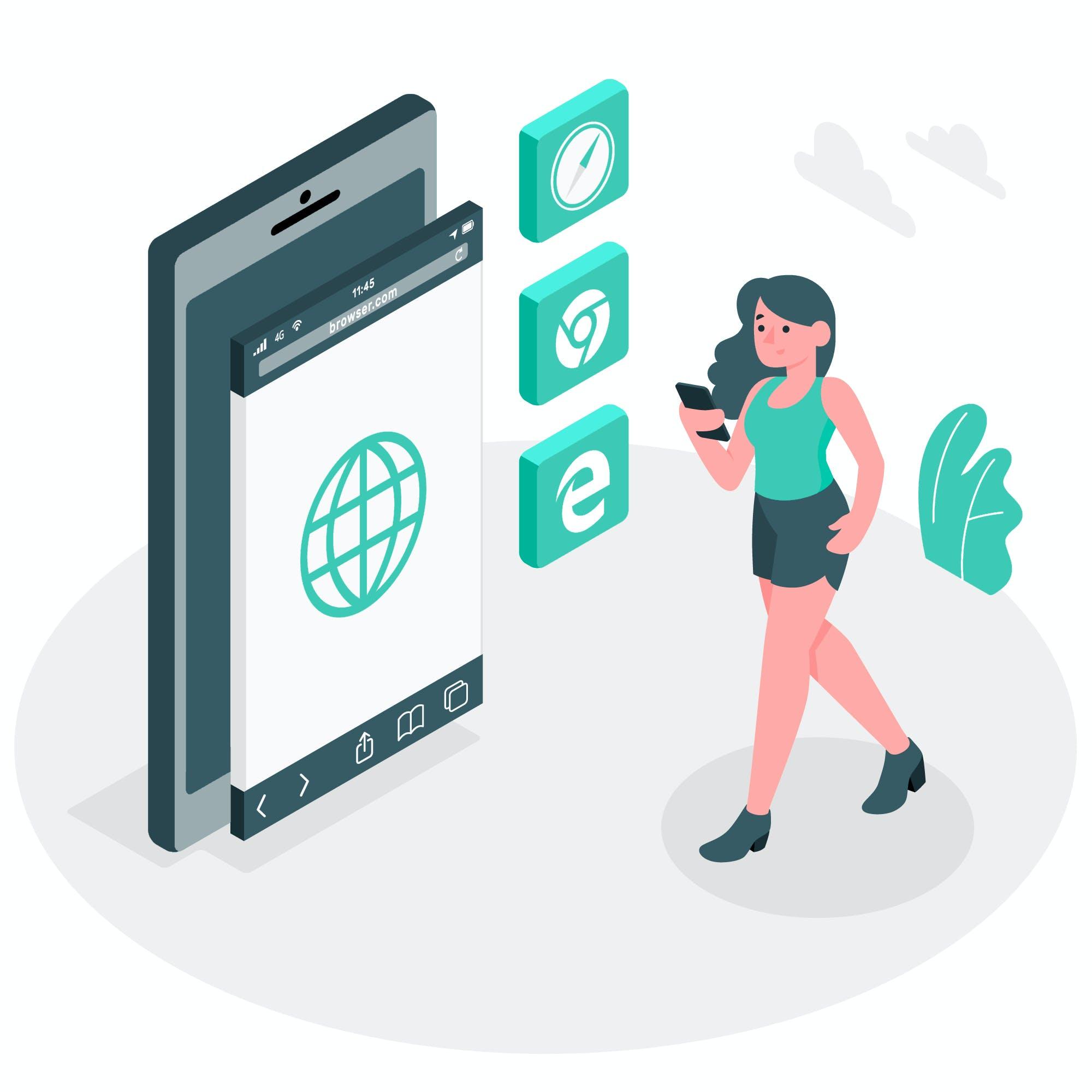 Suchmaschinen Nutzung, mitterweile vor allem auf mobilen Geräten.