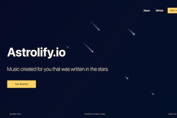 astrolify-landing-page