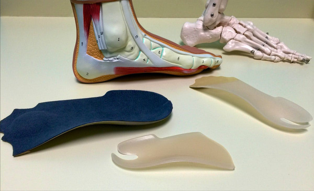 Different types of orthotics prescribed by the NDG podiatry clinic