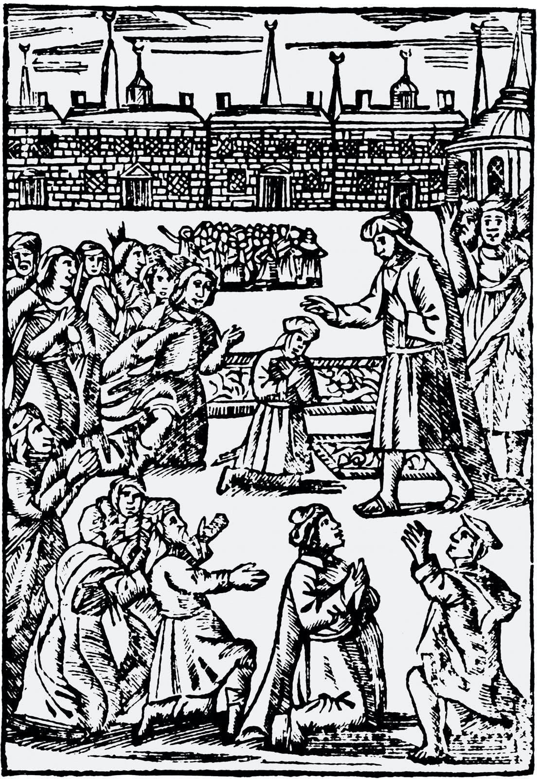 """""""Shabbetai Tzvi Blessing a Jewish Congregation,"""" Smyrna, Ottoman Empire, 1666"""