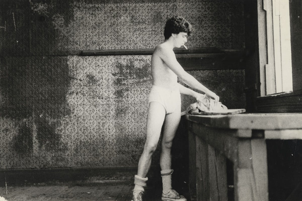 "Alvin Baltrop, ""Man Going Through Clothing,"" New York, c. 1980"