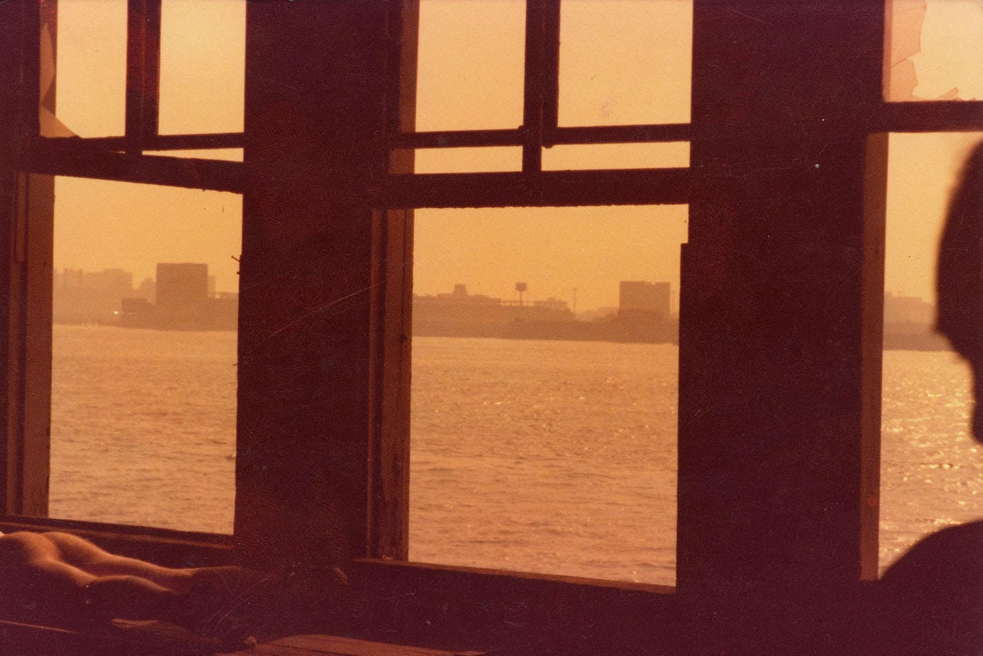 "Alvin Baltrop, ""Hudson River Through Window,"" New York, c. 1980"