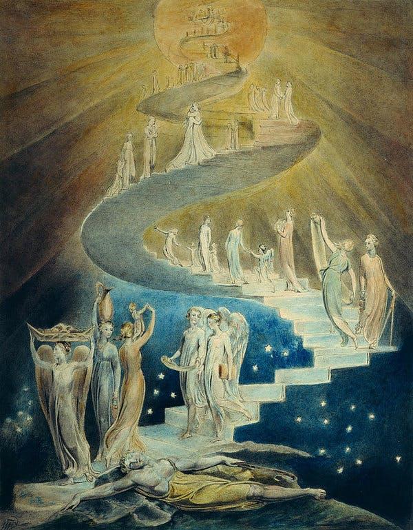 """William Blake, """"Jacob""""s Dream,"""" England, 1805"""