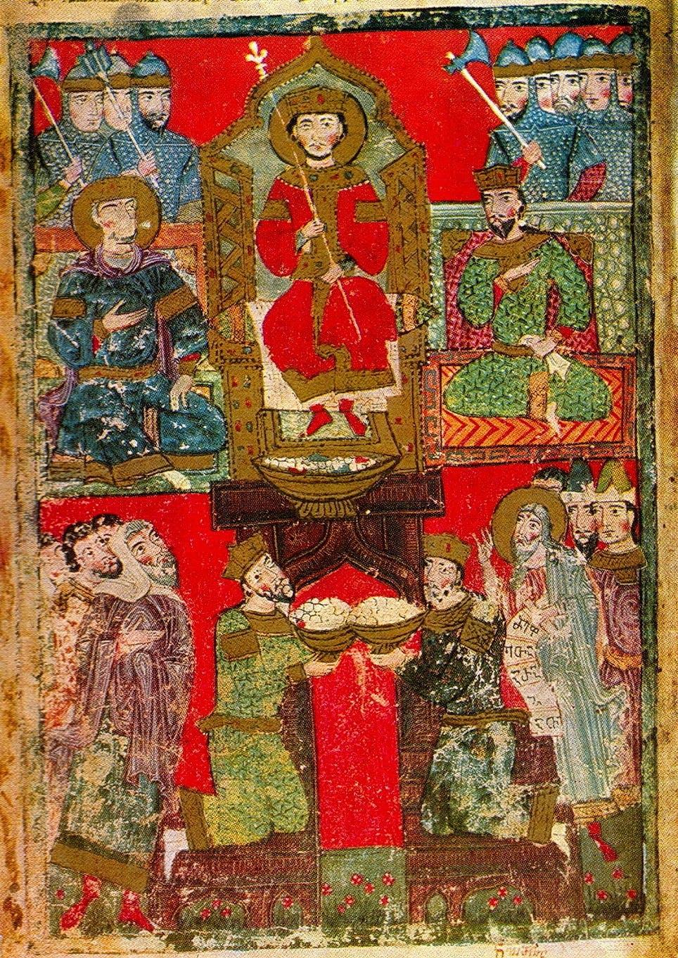 """Gifts for King Solomon,"" Imereti, Georgia, 15th century"