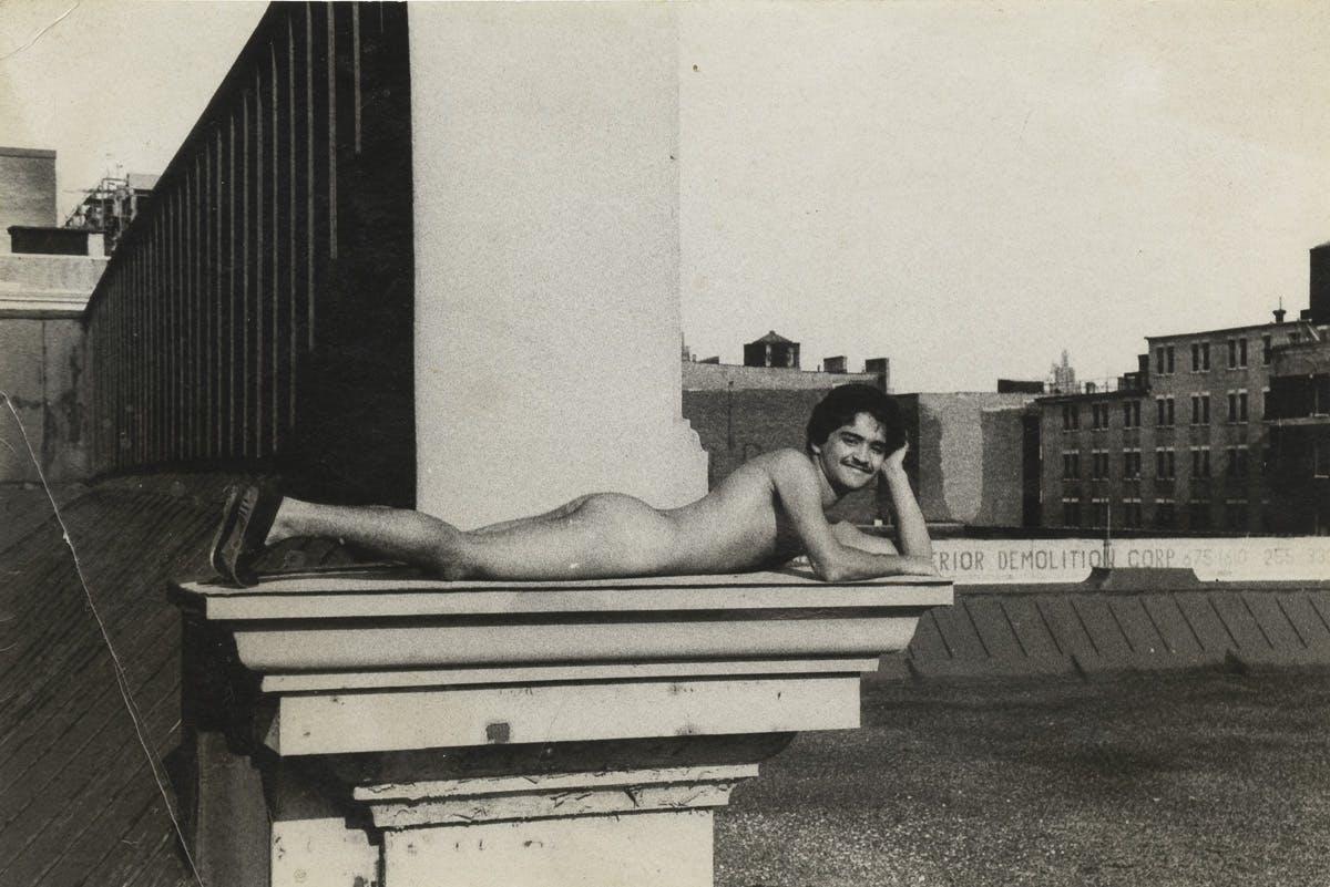 "Alvin Baltrop, ""Man Lying Down on Ledge,"" New York, c. 1980"