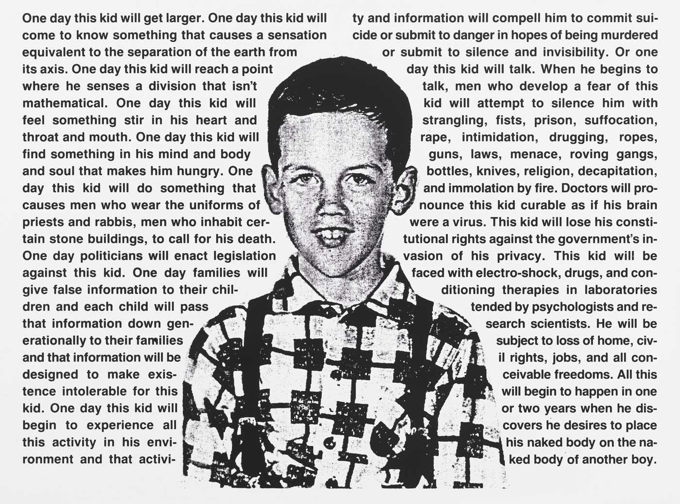 """David Wojnarowicz, """"One Day This Kid..."""", New York, 1990"""