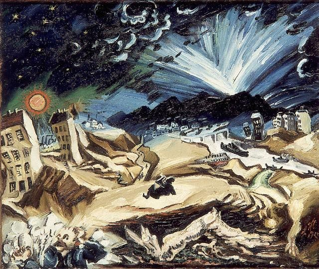 "Ludwig Meidner, ""Apocalyptic Landscape,"" Berlin, 1913"