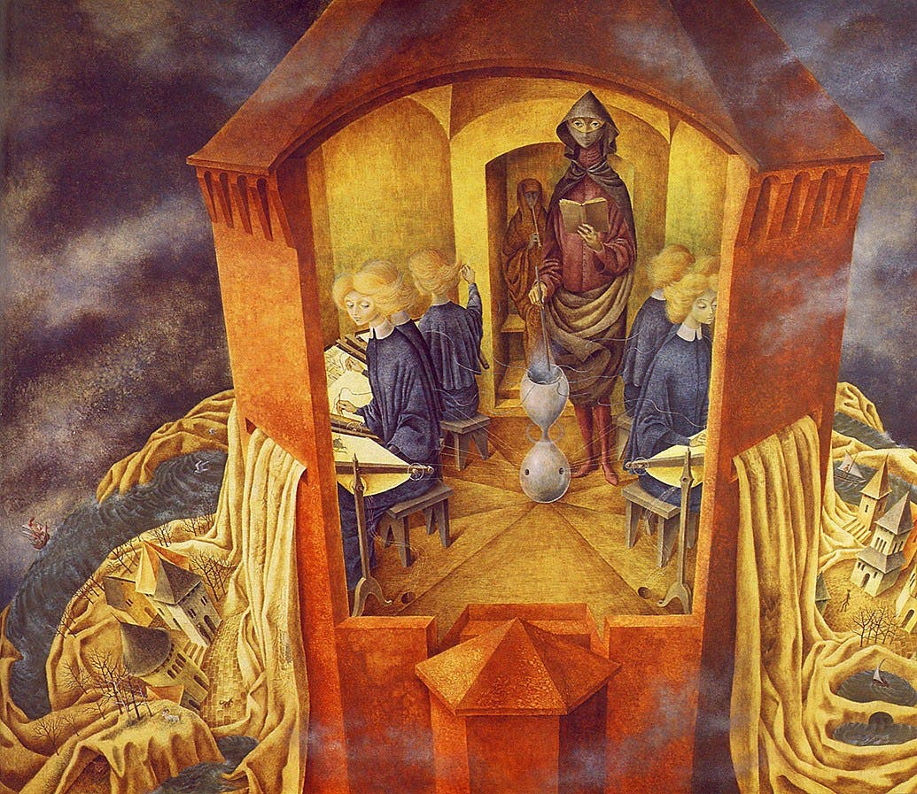 "Remedios Varo, ""Embroidering the Earth""s Crust,"" Mexico City, 1961"