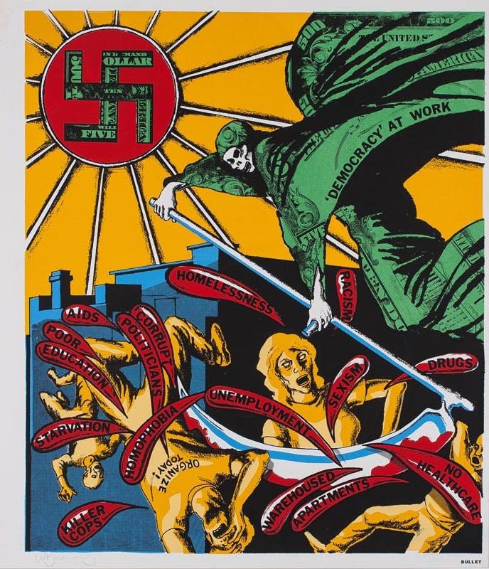 """David Wojnarowicz, """"Democracy at Work,"""" New York, 1989"""