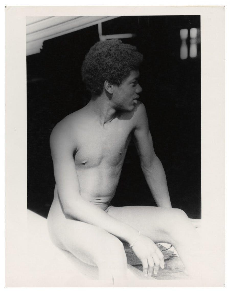 "Alvin Baltrop, ""Man on Dock,"" West Side Piers, New York, c. 1980"