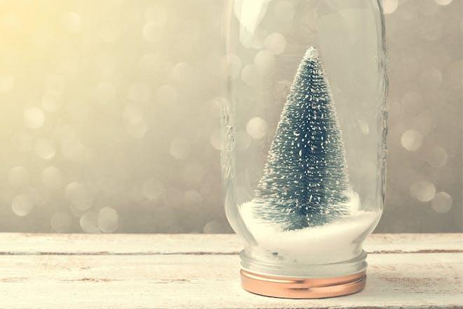 winter scene jars