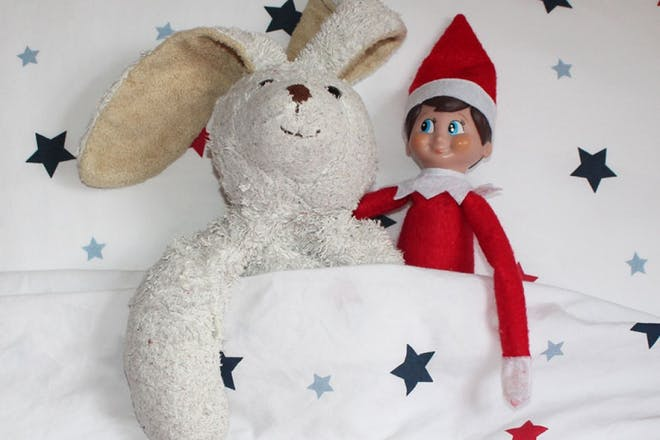 elf and bunny toy