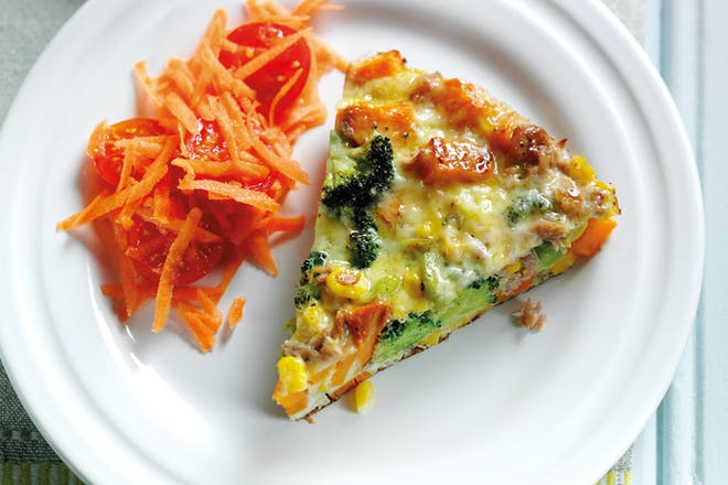 Sweet potato, tuna and sweetcorn tortilla recipe