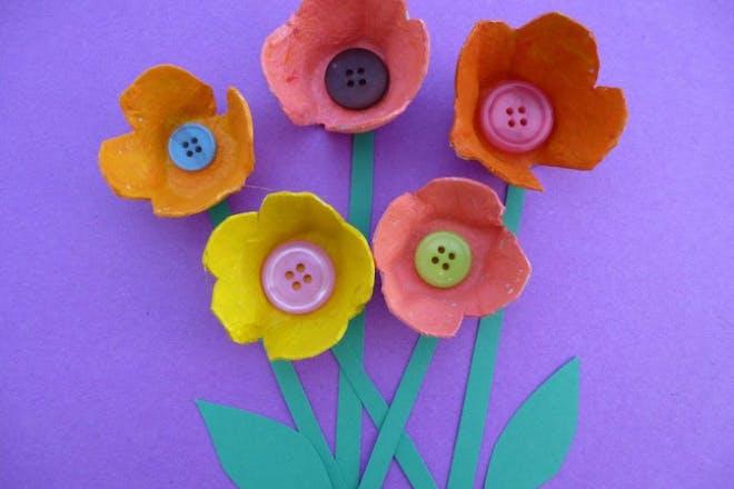 egg box flowers