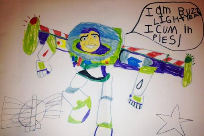 Buzz Lightyear drawing