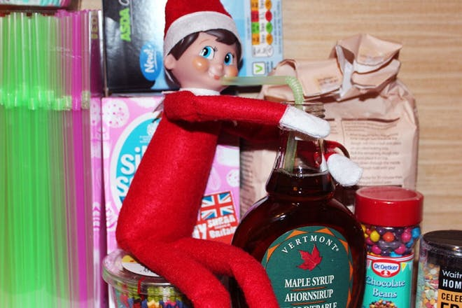 elf drinking syrup