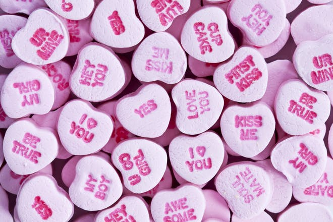 heart shaped sweets