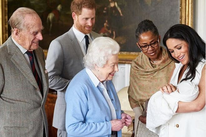 Archie Harrison meeting the Queen