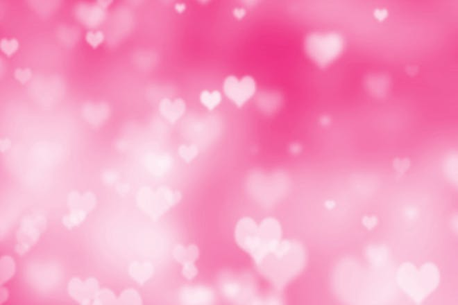 hearts on a pink background