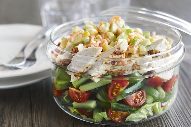 Turkey salad pots