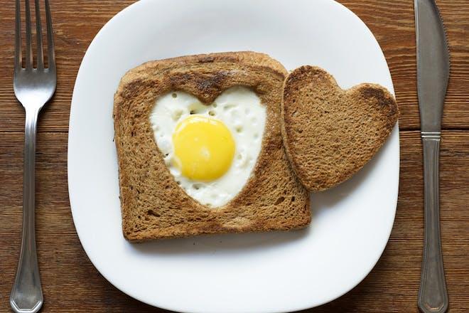 valentine's egg on toast
