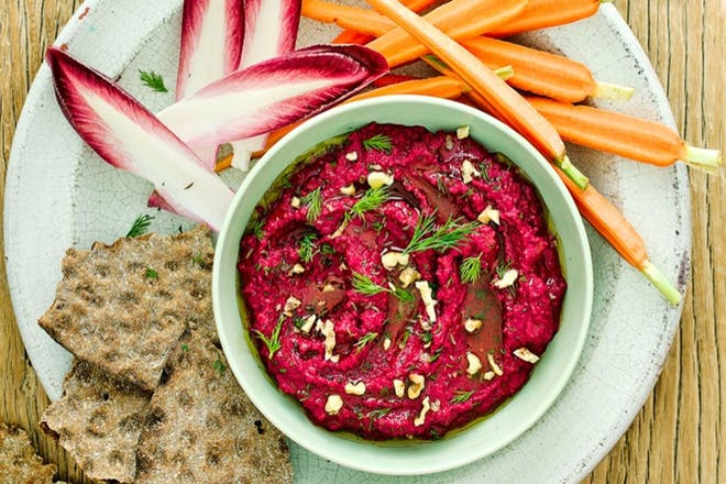 Beetroot and walnut dip