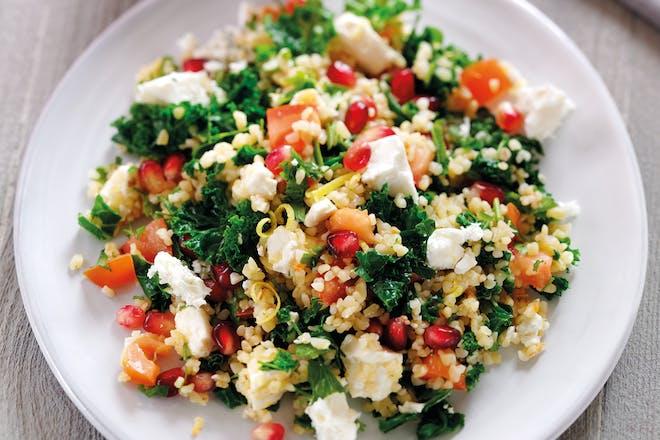 Kale and Feta tabbouleh salad