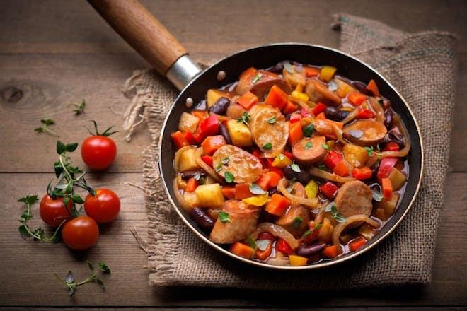 Spicy Quorn Sausage & Bean One-Pot Stew