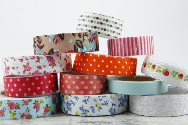 different coloured and patterned washi tape