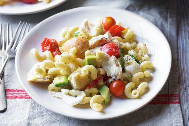 Tricolore pasta salad
