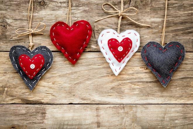 Valentine's Day crafts - homemade hearts