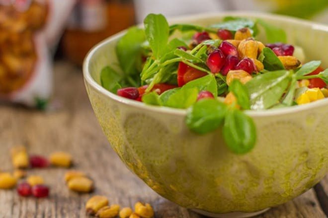 Corn and pomegranate salad