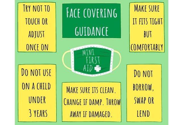 Face covering guidance for kids