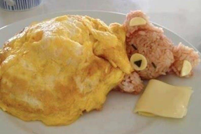 sleepy bear omelette