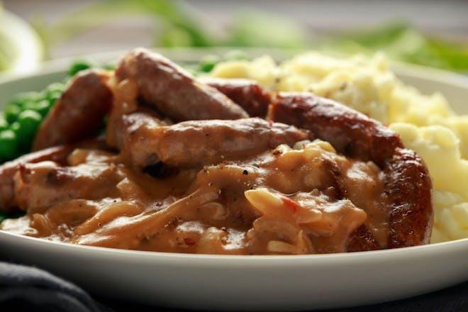 Sausage and onion casserole