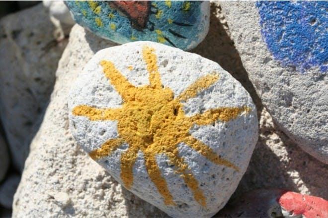 Paint pebbles