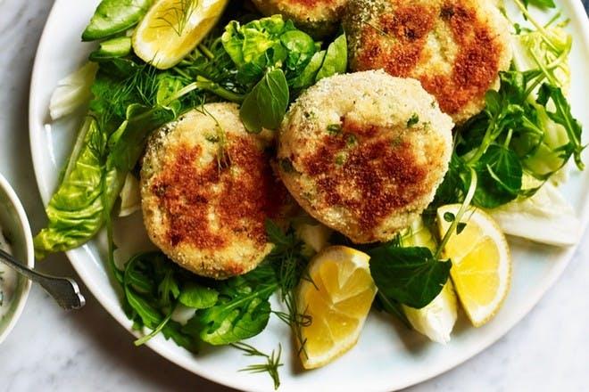 Cod and potato cakes