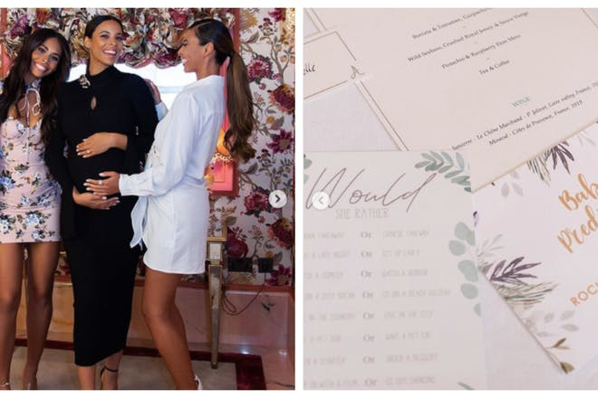Rochelle Humes and sisters at baby shower