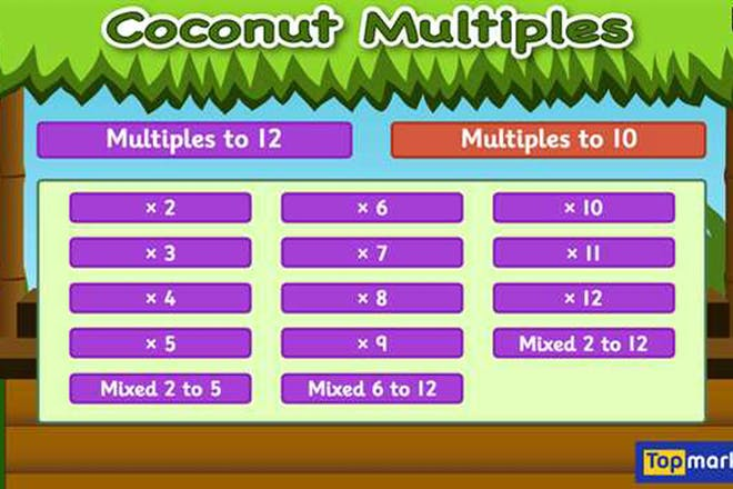 Coconut multiples maths game