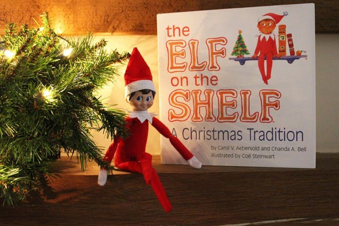elf with elf on the shelf book